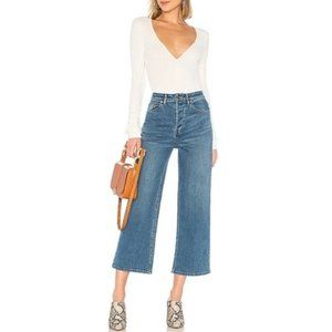 NWT FREE PEOPLE Wales Wide-Leg Jeans #AT3